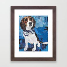 Earl the Hound Pup Framed Art Print