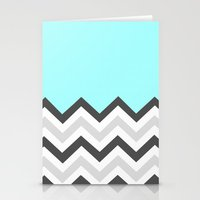 Color Blocked Chevron 16 Stationery Cards