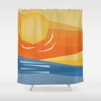 Beach Sunset Shower Curtain