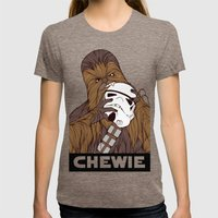 Chewie Womens Fitted Tee Tri-Coffee SMALL