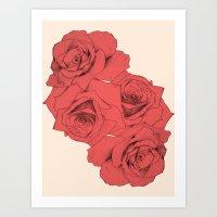 Tattoo Rose | Floral  Art Print