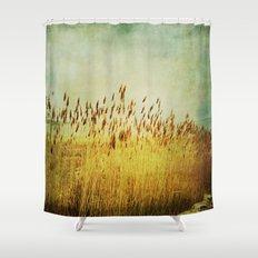Winter Gold Shower Curtain