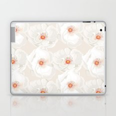 White flowers Laptop & iPad Skin
