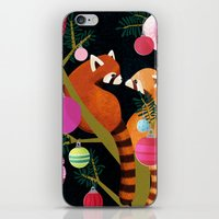 Red Pandas In Christmas … iPhone & iPod Skin