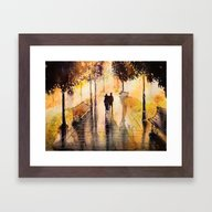 Framed Art Print featuring Promenade After The Rain by Nicksman