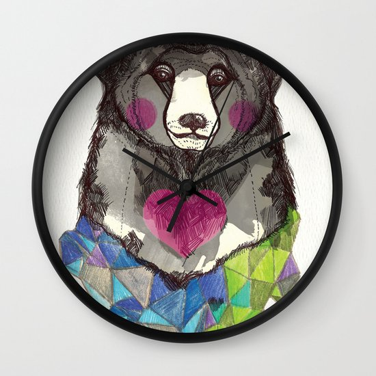 Bear yeah Wall Clock