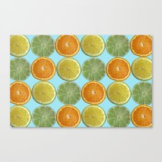 Lemons, Limes, Oranges, Oh my!  Citrus Photography Canvas Print