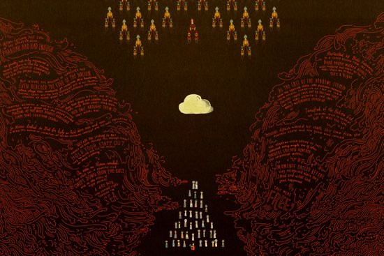 Parting the Red Sea (by Julia Kuo) Art Print