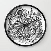 Fantasy Flower Illustrat… Wall Clock