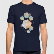 Honeycomb Concrete Mens Fitted Tee Navy MEDIUM