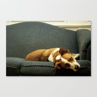 Bored With My Days Canvas Print