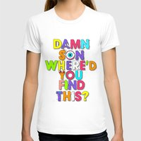 Damn Son / Purple Edition Womens Fitted Tee White SMALL