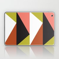 Pink, lime black triangle pattern (2015) Laptop & iPad Skin