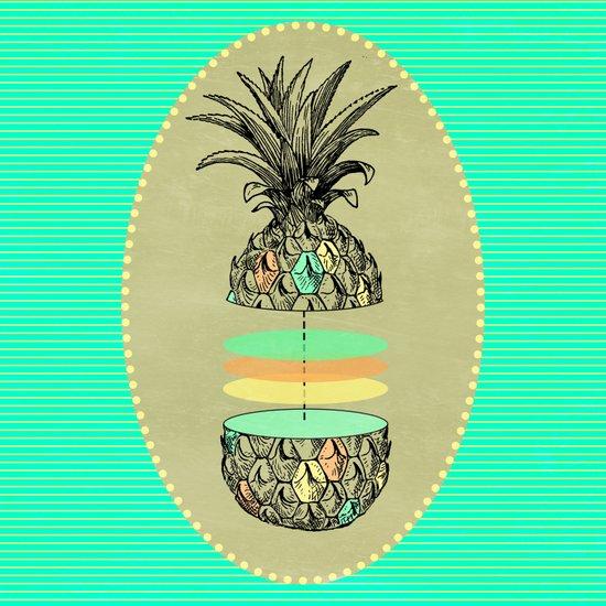 Sliced pineapple Art Print