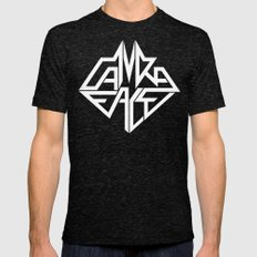CamRaFace Logo White for T-Shirts Mens Fitted Tee Tri-Black SMALL