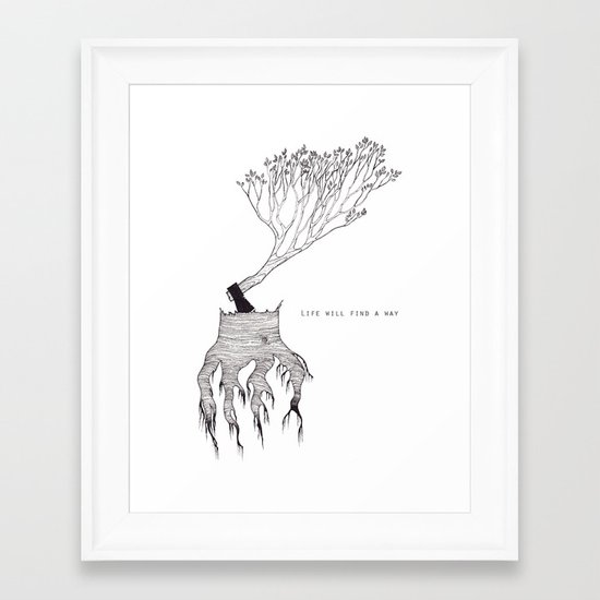 life will find a way Framed Art Print