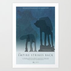 Empire Strikes Back Movie Poster Art Print