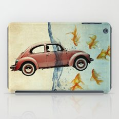 VW beetle and goldfish iPad Case