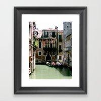 Water Filled Alleyway  Framed Art Print