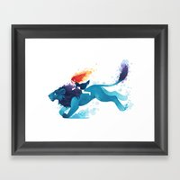 Lion Rider Framed Art Print