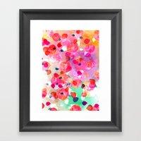 Candy Petals Framed Art Print