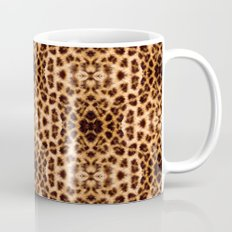 Leopard Print Kaleidoscope Abstract Mug
