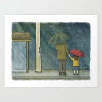 Daughter Rain Art Print