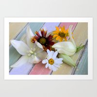 Flowers 'n Chalk Art Print