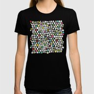 Buttons And Bees Womens Fitted Tee Black SMALL