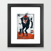 The Haunted Conductor Framed Art Print