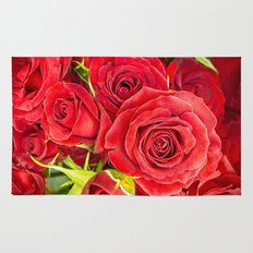 Stunning red roses Rug