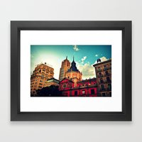 Madrid Sky Framed Art Print