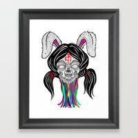 a bitter bitch. Framed Art Print