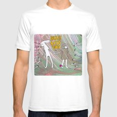 Hug, Kiss, Touch me Mens Fitted Tee SMALL White
