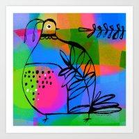 QUAIL COLORS Art Print