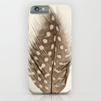 feather iPhone & iPod Cases featuring Feather by Mina Teslaru