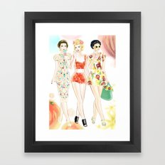 Dolce & Gabbana SS12 Illustration Framed Art Print