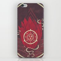 Pulsatilla Patens In Red iPhone & iPod Skin