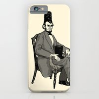 iPhone Cases featuring Hat Head by Ian Byers
