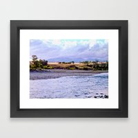 Camping On The Yellowsto… Framed Art Print