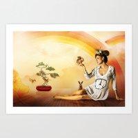 Snow White Was A Hippie Art Print