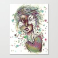 Hominal Cybernated Canvas Print