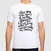 I love you in the morning Mens Fitted Tee Ash Grey SMALL
