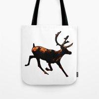 The Mighty Moose Mongoose Reindeer Elk Rentier Caribou Tote Bag