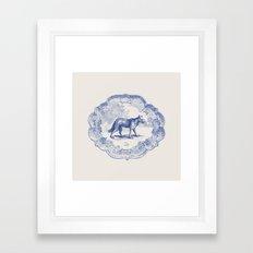 DelftWare Wolf Framed Art Print