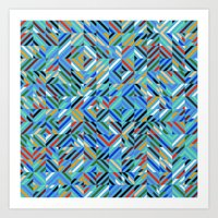Colorful Random Diagonal… Art Print