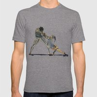 Dancers Mens Fitted Tee Tri-Grey SMALL