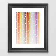 Snow Falls On The Rainbo… Framed Art Print