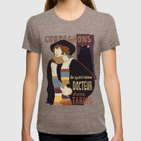 Le Fourth Doctor Womens Fitted Tee Tri-Coffee SMALL