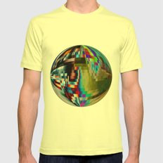 Pixelation  Mens Fitted Tee Lemon SMALL